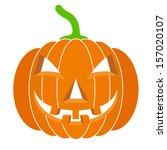 pumpkins for halloween. vector... | Shutterstock .eps vector #157020107