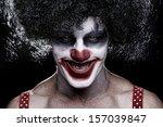 Evil Spooky Clown Portrait On...