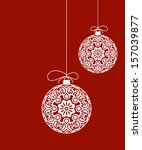 decorative christmas ornaments | Shutterstock .eps vector #157039877