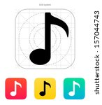 musical note icon. vector...