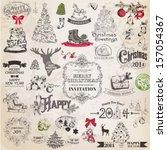 vector set  christmas...   Shutterstock .eps vector #157054367