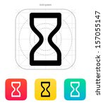 hourglass icon. vector...