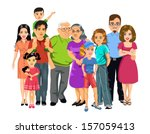 big happy family | Shutterstock .eps vector #157059413