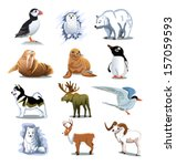 animal,arctic,art,artwork,bear,bird,cartoon,clip-art,cold,collection,color,cute,design,dog,fauna