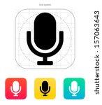 retro microphone icon. vector... | Shutterstock .eps vector #157063643