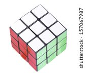 Six Color Cube Puzzle With...