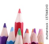 colorful of pencils in concept... | Shutterstock . vector #157068143