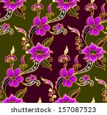 seamless  batik background... | Shutterstock .eps vector #157087523