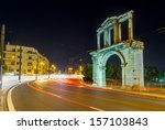 arch of hadrian at night ... | Shutterstock . vector #157103843