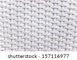 White Wicker Woven Texture As...