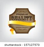 vector vintage style die cut... | Shutterstock .eps vector #157127573