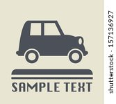 vintage car icon or sign ... | Shutterstock .eps vector #157136927