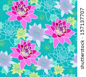 floral seamless pattern with... | Shutterstock . vector #157137707
