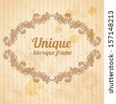 vector vintage baroque... | Shutterstock .eps vector #157148213