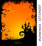 vector illustration of a scary... | Shutterstock .eps vector #157154207
