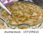 sweet palm juice served with... | Shutterstock . vector #157159613