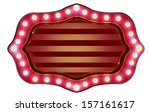 glowing retro marquee entrance... | Shutterstock . vector #157161617