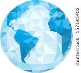 polygonal globe. vector... | Shutterstock .eps vector #157165403