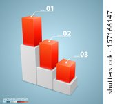 vector 3d growth chart.... | Shutterstock .eps vector #157166147