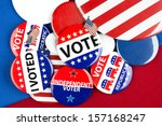 a campaigning politician... | Shutterstock . vector #157168247