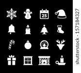 christmas icon   white | Shutterstock .eps vector #157184327