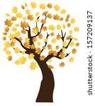 vector autumn tree | Shutterstock .eps vector #157209137