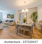 modern dining room in luxury... | Shutterstock . vector #157220417