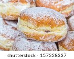 Stack Of Berliner Donuts