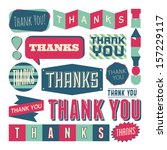 a set of retro style 'thank you'... | Shutterstock .eps vector #157229117