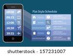 smart phone personal schedule | Shutterstock .eps vector #157231007
