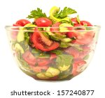 healthy salad isolated on white ...