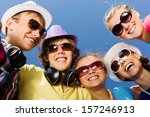 group of young and happy people ... | Shutterstock . vector #157246913