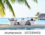 happy young couple relax and... | Shutterstock . vector #157250453