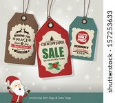 christmas sale tags | Shutterstock .eps vector #157253633
