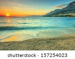 Sunset Over The Beach Makarska...