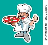 pizza chef | Shutterstock .eps vector #157262093