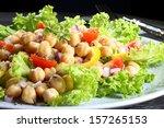chickpeas salad   black...
