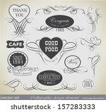 retro calligraphic design... | Shutterstock .eps vector #157283333