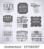 retro  vintage bakery labels... | Shutterstock .eps vector #157283507