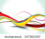 abstract colorful vector wave...