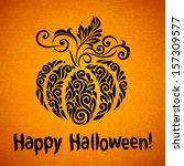 vector happy halloween... | Shutterstock .eps vector #157309577