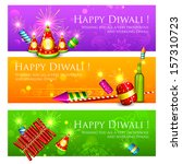illustration of diwali banner... | Shutterstock .eps vector #157310723