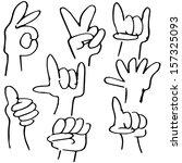 an image of hand gestures. | Shutterstock .eps vector #157325093