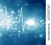 heartbeat on the display of a... | Shutterstock . vector #157332767