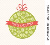 greeting card with christmas... | Shutterstock .eps vector #157348487