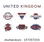 england stamp label collection... | Shutterstock .eps vector #157357253