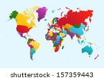 world map with colorful... | Shutterstock .eps vector #157359443