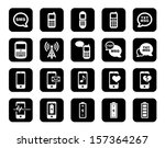 cell phone   mobile phone icon... | Shutterstock . vector #157364267