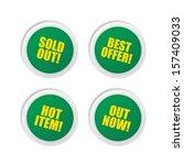 color sticker product label set   Shutterstock .eps vector #157409033