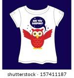 owl t shirt | Shutterstock .eps vector #157411187